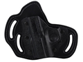 DeSantis Intimidator Outside the Waistband Holster Left Hand Kimber Solo Kydex and Leather Black