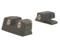 Meprolight Tru-Dot Sight Set Springfield XD 9mm Luger, 40 S&W Service, Tactical Steel Blue Tritium Green Front Yellow Rear