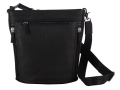Gun Tote'N Mamas Bucket Tote Handbag Leather Black