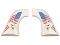 Hogue Grips Ruger Super Blackhawk Ivory Polymer Eagle with Flag Pattern