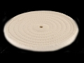 Formax 8&quot; Diameter 1/2&quot; Thick Spiral Sewn Cotton Buffing and Polishing Wheel With 5/8&quot; Arbor Hole