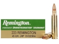 Product detail of Remington Disintegrator Varmint Ammunition 223 Remington 45 Grain Jacketed Iron Core Hollow Point Lead-Free Box of 20