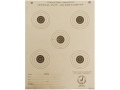 NRA Official Air Rifle Training Target TQ-5/5 25&#39; Paper Package of 100