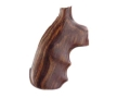 Hogue Fancy Hardwood Grips with Finger Grooves Colt 38 SF-VI Cocobolo