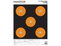 "Champion ShotKeeper 5 Large Bullseye Targets 11"" x 16"" Paper Black/Orange Bull Package of 12"