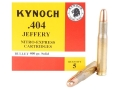 Product detail of Kynoch Ammunition 404 Jeffery 400 Grain Woodleigh Weldcore Solid Box of 5