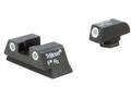 Trijicon Night Sight Set Glock 42, 43 Steel Matte 3-Dot Tritium Green