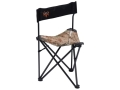 Ameristep Bone Collector Tripod Chair Steel Frame and Nylon Seat and Back Black and Realtree AP Camo