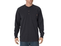 Dickies Men's Henley T-Shirt Long Sleeve Cotton