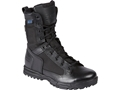 "5.11 Skyweight 8"" Side Zip Uninsulated Waterproof Tactical Boots Leather Black Men's"
