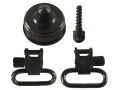 Uncle Mike&#39;s Quick Detachable Sling Swivel Cap Set Mossberg 590, 835 12, 20 Gauge 1&quot; Black