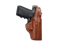 Hunter 5000 Pro-Hide High Ride Holster Right Hand Glock 19, 23 Leather Brown