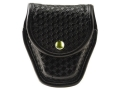 Bianchi 7917 AccuMold Elite Double Cuff Case Brass Snap Basketweave Nylon Black