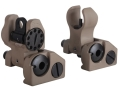 Troy Industries Micro Flip-Up Battle Sight Set HK-Style Front &amp; Standard Rear AR-15 Flat Dark Earth