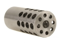 "Vais Muzzle Brake Varmint 223 Caliber 5/8""-32 Thread .875"" Outside Diameter x 2"" Length Stainless Steel"