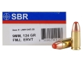 Product detail of SBR LaserMatch Tracer Ammunition 9mm Luger 124 Grain Full Metal Jacket ERVT Box of 20