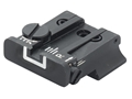 LPA TPU Rear Sight S&W 3rd Generation Semi Auto with Novak Rear Sight 9mm Luger, 40 S&W Steel Blue White Outline