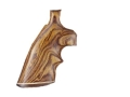 Hogue Fancy Hardwood Grips with Accent Stripe and Top Finger Groove Colt 38 SF-VI Cocobolo