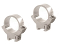"Warne 1"" 22 Caliber Rings Silver Medium"