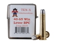 Ten-X Cowboy Ammunition 40-65 WCF 260 Grain Lead Round Nose Flat Point BPC Box of 20