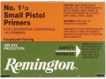 Remington Small Pistol Primers #1-1/2 Box of 1000 (10 Trays of 100)