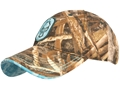 Hard Core Women's Teal Hunter Cap Synthetic Blend Realtree Max-5 Camo