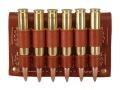 Hunter Cartridge Belt Slide Rifle Ammunition Carrier 30-06 Springfield Base 6-Round Leather Brown