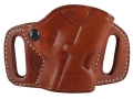 El Paso Saddlery High Slide Outside the Waistband Holster Right Hand 1911 Leather Russet Brown