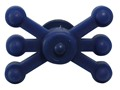 Bowjax Monster Jax Solid Limb Bow Vibration Dampener Rubber Blue Pack of 2