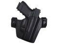 Blade-Tech Hybrid Convertible IWB/OWB Holster Right Hand Smith &amp; Wesson M&amp;P 9, 40 Leather and Kydex Black