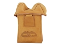 Protektor Small Owl Ear Straddle Shooting Rest Bag Leather Tan Unfilled