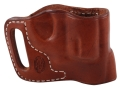 El Paso Saddlery Combat Express Belt Slide Holster Right Hand Smith &amp; Wesson J-Frame Leather Russet Brown