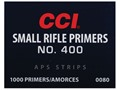 CCI Small Rifle APS Primers Strip #400 Case of 5000 (5 Boxes of 1000)