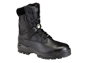"5.11 ATAC 8"" Shield Waterproof Uninsulated Tactical Boots Leather Black Men's 12 EE"
