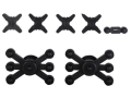 Bowjax Crossbow Silencing Kit for Solid Limbs Rubber Black