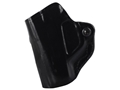 DeSantis Mini Scabbard Outside the Waistband Holster Left Hand Taurus 709 Slim Leather Black
