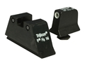 Trijicon Suppressor Night Sight Set Glock Large Frame 3-Dot Tritium Grn with White Front Outline
