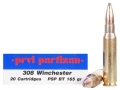 Prvi Partizan Ammunition 308 Winchester 165 Grain Pointed Soft Point Boat Tail Box of 20