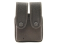 Uncle Mike&#39;s Double Magazine Pouch Double Stack Magazine Molded Insert Snap Closure Nylon Black