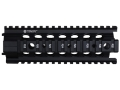 Troy Industries 7&quot; MRF-C Battle Rail Free Float Quad Rail Handguard AR-15 Black