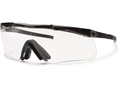 Smith Optics Elite Aegis Echo II Compact Eyeshields Black Frames Clear and Gray Lenses