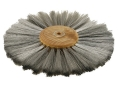 "Grobet 6"" Diameter 2 Row Brushing Wheel .003 Stainless Steel"
