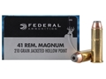 Product detail of Federal Power-Shok Hunting Ammunition 41 Remington Magnum 210 Grain Jacketed Hollow Point Box of 20
