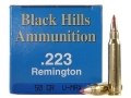 Black Hills Remanufactured Ammunition 223 Remington 50 Grain Hornady V-Max Box of 50