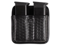 Bianchi 7922 AccuMold Elite Triple Threat 2 Magazine Pouch 1911, Ruger P90, S&amp;W 909, 3913, Sig Sauer P220, P225, P239 Trilaminate Basketweave Black
