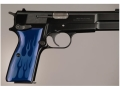 Hogue Extreme Series Grip Browning Hi-Power Flames Aluminum Blue