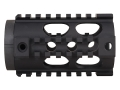 Yankee Hill Machine Free Float Tube Handguard Lightweight Quad Rail AR-15 Pistol Length 4.15&quot; Aluminum Matte