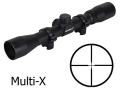 Bushnell 22 Rimfire Rifle Scope 4x 32mm Multi-X Reticle with Rings Matte