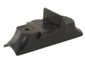 NECG Classic Express Rear Sight with Island Base 1-Leaf Medium for .675&quot; to .730&quot; Diameter Barrel Steel Blue