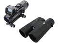 Leupold Mark 4 Tactical HAMR Rifle Scope 4x 24mm 1/10 Mil Adjustments Illuminated CMR2 Reticle Matte with Integral Picatinny-Style Mount, 7.5 MOA DeltaPoint Red Dot Sight and BX-2 Tactical Binocular